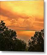 Sunset At The Esplanade Metal Print