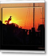 Sunset At The Granary Metal Print