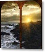 Sunset At The Jersey Shore Metal Print