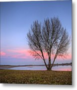 Sunset At The Lake Metal Print