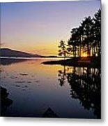 Sunset At The Lake, Kenmare, Ring Of Metal Print