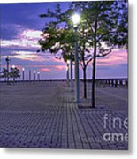 Sunset At The Plaza Metal Print