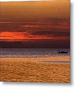 Sunset At The Sea Metal Print