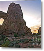 Sunset At Turret Arch Metal Print