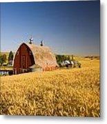 Sunset Barn And Wheat Field Steptoe Metal Print