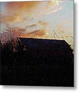 Sunset Barn1 Metal Print