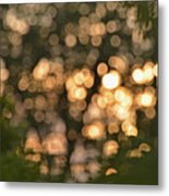Sunset Bokeh  Metal Print