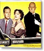 Sunset Boulevard, William Holden Metal Print by Everett