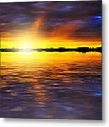 Sunset By The River Metal Print by Svetlana Sewell