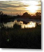 Sunset Cape Charles Virginia Metal Print
