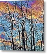 Sunset Cloud Colors  4 Metal Print