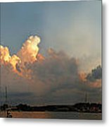 Sunset Clouds Over The Bay Metal Print