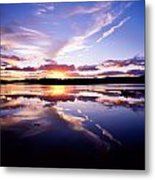 Sunset, Dinish Island Kenmare Bay Metal Print
