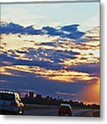 Sunset Drive Metal Print