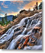 Sunset Falls Landing Metal Print