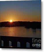 Sunset From The Bridge Metal Print