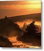 Sunset, Glendalough Glendalough, Co Metal Print