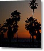 sunset in Califiornia Metal Print