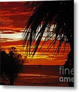 Sunset In Cancun Metal Print