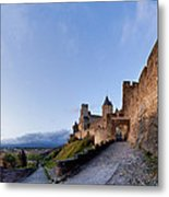 Sunset In Carcassonne Metal Print by Robert Lacy