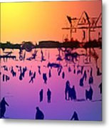 Sunset In Central Park Metal Print