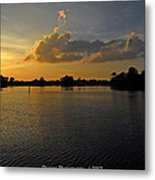 Sunset In Clearwater Florida Metal Print
