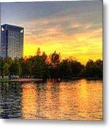 Sunset In Hermann Park Metal Print