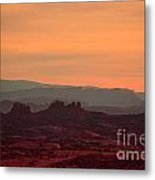 Sunset In Moab Metal Print