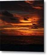 Sunset In Naples Metal Print