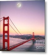 Sunset In San Francisco Metal Print
