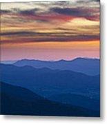 Sunset In Shenandoah National Park Metal Print