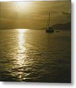 Sunset In The Bvi Metal Print