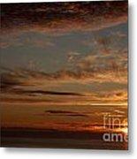 Sunset In The Pacific Ocean 3 Metal Print
