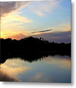 Sunset Lagoon Metal Print