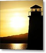 Lake Havasu Sunset Lighthouse Metal Print