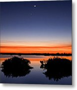 Sunset Moon Venus Metal Print