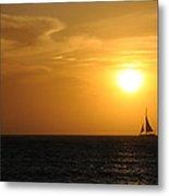 Sunset On Aruba 1 Metal Print