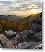Sunset On Black Rock Mountain Metal Print