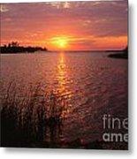Sunset On Eagle Harbor Metal Print