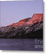 Sunset On Frozen Tenaya Lake Metal Print