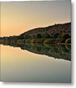 Sunset On Kunene River, Namibia Metal Print