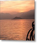 Sunset On Lake Como Metal Print
