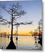 Sunset On Lake Mattamuskeet Metal Print