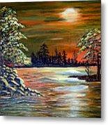 Sunset On Lake Windsor Metal Print