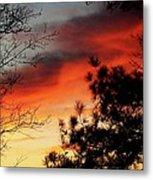 Sunset On Mountain Road  Metal Print