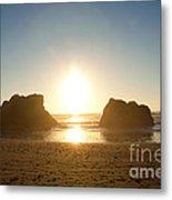 Sunset On Ruby Beach Metal Print