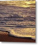 Sunset On Small Wave Metal Print