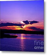 Sunset On Snake River Metal Print