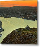 Sunset On St. John's Harbour Metal Print