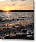 Sunset On The Bay Of Fundy Metal Print